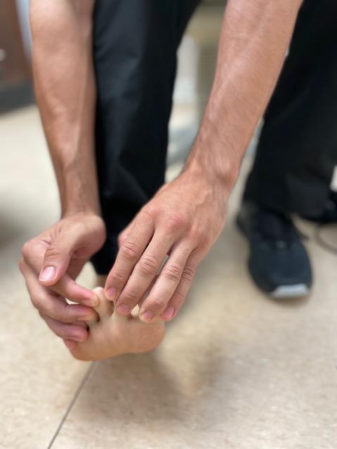 Dr. Strash treats COVID toes